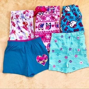 Girls Lot of Pajamas & Shorts